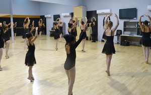 Mixed ballet class